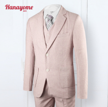 Pink Suts Three Sets Jacket Pant Vests Wedding Dress Fiance Clothing 2016 NEW Arrival Men's Jackets Fashion Custom Made SI30