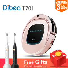 2018 Smart Robot Vacuum Cleaner for Home Sweeping Dust Sterilize Planned Path charging Clean mop Filter Roller brush Dibea R701(China)