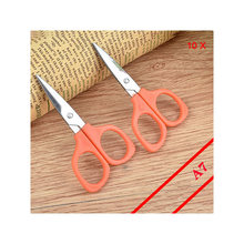 10Pcs/Lot Mini Portable Scissors For Outdoor Or Family First Aid Emergency Kit Supplies And Kid Students Hand Craft Tool