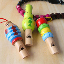 2PCS Wooden Cartoon Animal Whistle Children's Musical Instrument Baby Early Education Supplies(China)