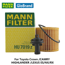 MANNFILTER car oil filter HU7019z  for Toyota Crown /CAMRY /HIGHLANDER /LEXUS ES/NX/RX  Auto parts