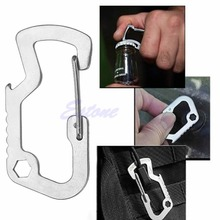 Survival Carabiner Key Chain Keyring Travel Bottle Opener Cap Lifter Multi Tools(China)
