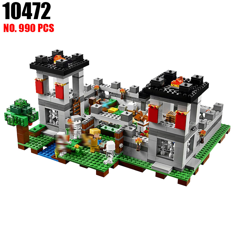 AIBOULLY 10472 Pogp 990pcs The Forest Minecraft Models Building Blocks Bricks Compatible Bela 21127 Toys Gifts for Children<br>
