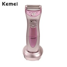 Kemei Rechargeable Waterproof Lady Shaver Body Hair Removal Shaving Device Cordless Trimmer for Bikini Underarm body Depilation(China)