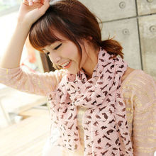 1 pc Brand New The Cat Design Scarf For Lovely Girls Fashion Chiffon Scarf HOT clothing accessories(China)