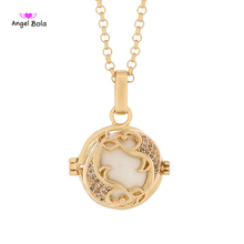 Angel Bola Pisces Perfume Necklace Aromatherapy Pendant Stainless Steel Chain Interchangeable DIY Pregnant Jewelry L137