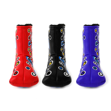 1Pc Golf Head Covers 3 Colors Golf Putter Cover Headcover For Blade Clown Style Waterproof Golf Club Accessories