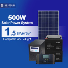 Solar power system with solar panel / battery / inverter / solarcontroller high quality solar power generator 500w power bank
