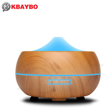 300ml Ultrasonic Humidifier Aroma Essential Oil Diffuser Cool Mist Perfume Humidifier Aromatherapy Vaporizer With 7 Color LED(China)