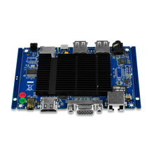 Qotom 1080p Pfsense Nano Mini-ITX Motherboard with Quad Core atom Z3735F ,2G/32G emmc SSD for Fanless Mini PC/Mini Computer