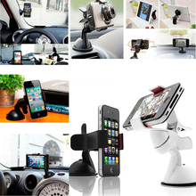 Universal mobile phone holder stand car windshield mount holder For iPhone note xiaomi 4s 5 5s 6 6s galaxy S3 4 5 6 7 Note 3 4