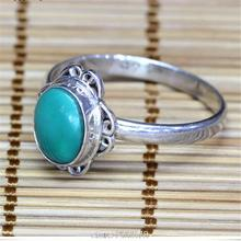 T9187 Nepal Handmade 925 Sterling Silver Inlaid Natural Turquoise Lovely Lady Rings Nepal vintage Girls jewelry Best offer