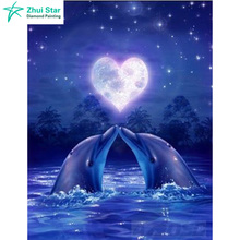 3d DIY Diamond Embroidery Paiting Animals of Diamond Painting Kits love Dolphins Cross Stitch Kit Mosaic