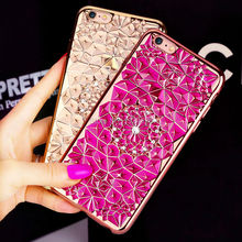 Fashion 3D Luxury Cover For iPhone 5s SE 7 6 6s 6Plus Case Diamond Bling Glitter Plating Frame Protective Phone Cases NEW