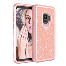 Buy Samsung Galaxy S9 S9 Plus Case Shockproof Luxury Diamond Glitter Bling Dual Layer Rubber Phone Case Galaxy S9 for $4.44 in AliExpress store