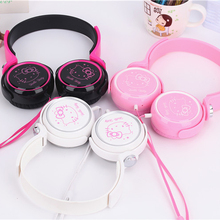 Cartoon earphone headset cute hello kitty headphones for Mobile Phone MP3/MP4/Computer for iphone samsung xiaomi headset