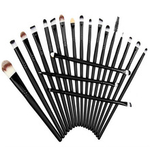 Pro 20Pcs Eye Shadow Contour Brush Kit Eye Make Up Brush Set Full Application Lady Beauty Makeup Brushes(China)
