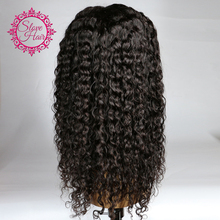 Slove Glueless Lace Front Human Hair Wigs For Black Women Curly Weave Human Hair With Baby Hair 8''-24'' Remy Hair Full End(China)