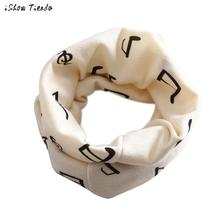 Baby Scarf Music Note Printing Winter Boys Girls Collar Scarf Cotton O Ring Neck Scarves Poncho #1102(China)