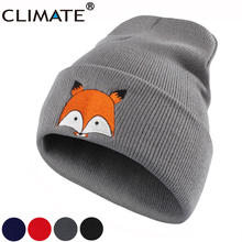 CLIMATE Women Girls Winter Warm Beanie Hat Cap New Cute Fox Lovely Skulls Knitted Hat For Adult Teenagers Boy Girls Women(China)