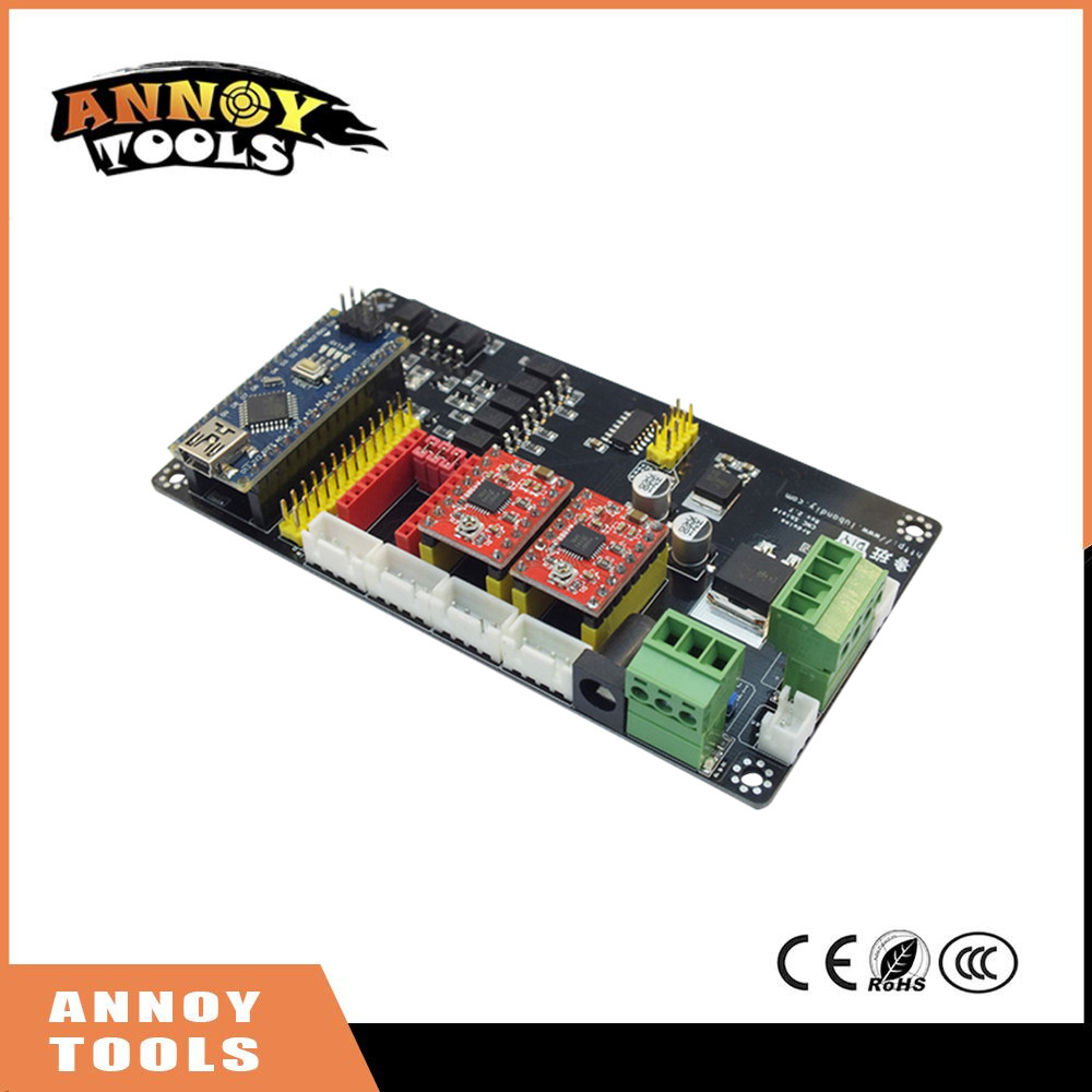 CNC Three Axis Stepper Motor Controller Board+Nano 3.0 Board+A4988 Driver for CNC Laser Engrave Machine Electronic Control Panel<br>