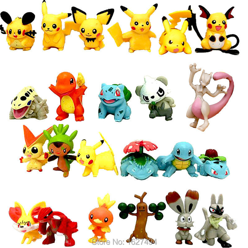 24pcs Pocket Monsters Pokeball Minifigures Pokebola Pikachu Action Figures Collectibles Dolls Figurines Kids Toys for boys Girls<br><br>Aliexpress