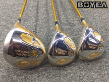 Boyea 4 Star Honma S-05 Wood Set Golf Woods Golf Clubs Driver +Fairway Woods R/S/SR Flex Graphite Shaft With Head Cover