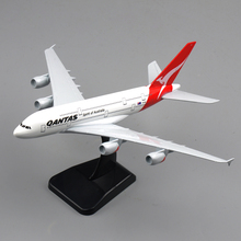 Hot Scale 1/400 Scale Alloy Diecast Airplanes Model Toys 20CM A380 Spirit of Australia Qantas Aircraft Model   Kids Gifts Collec