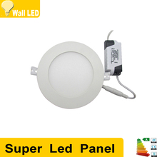 Round Dimmable Led Panel Downlight 3w 4w 6w 9w 12w 15w Round/Square LED SMD283 Ceiling Recessed Light AC85-265V LED Panel Light