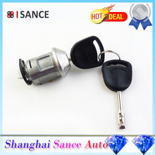 ISANCE Ignition Key Switch Lock Cylinder 2 Keys 1022184 For Ford FOCUS 1998-2005 & ESCORT 1986-2001 & TRANSIT MK6 2000-2006(China)
