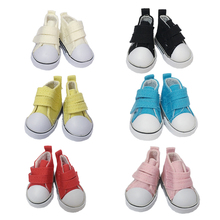 5Pair Canvas Shoes For BJD Doll Fashion Mini Toy Shoes 1/6 Bjd Shoes et029