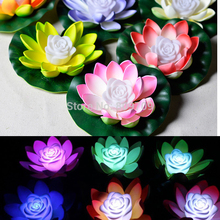 6PCS/Lot LED Lanterns Lotus Lamp Artificial Water Lily Flower Colorful Night Light 7 Colors Changing River Lights Wedding Decor