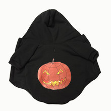 Halloween dog jackets coats Pumpkin Bone Pattern Pet Dog Dressing Halloween Sweater Shirt Dress Clothes ropa perro invierno EY11(China)