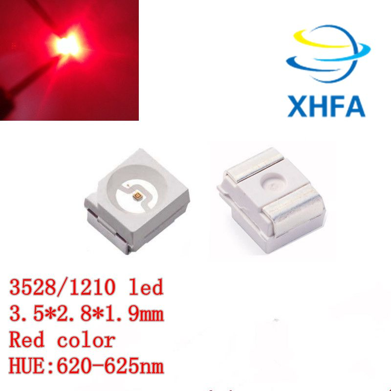 100 x ULTRA BRIGHT WHITE 1210 3528SMD SMT PLCC-2 SURFACE MOUNT ULTRA BRIGHT LEDS