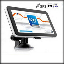 BY DHL OR EMS 100 pieces 256mb 8gb Promotion 7 inch Car GPS Navigator without Bluetooth BUILT IN 4GB load Map(China)