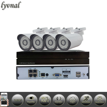SONY IP Camera System With 4CH 1080P POE 48V NVR  Security IP Camera Onvif P2P Plug And Play Surveillance Camera System