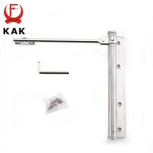 KAK Adjustable Door Closer Stainless Steel Automatic Door Spring Silver Tone Strength For Home Office Door Fire Rated Gate