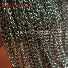 Fate Love Lot 5 meters In Bulk Pure Stainless steel Jewelry Marking Finding Polished Curb Link Chain 5mm(China)