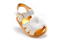 6pairs/lot Summer Baby Flower Shoes Princess White Infant Sandals