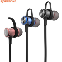 Bluetooth Headphones Magnet Design Sport Earphone Sweatproof with Mic RIVERSONG Raindrop Stereo Headset for iphone and Android