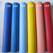 30 x 134cm smooth PU leather fabric faux leather synthetic leather material mini roll for DIY fabric CN045(China)