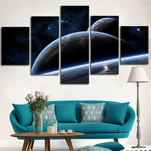 2016 5Planes Wall Painting Home Decoration Surface Of The Moon Unframed Canvas Art Picture For Living Room Artwork Paint Printed(China)