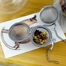 New Fasion 7cm Stainless Steel Infuser Strainer Tea Leaf Filter Locking Spice Ball Hot Good Quality