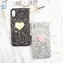 Buy KRY Glitter Bling Phone Cases iPhone X Case Pink Lovely Heart Cover iPhone X Case Cases Vintage Hard PC Coque Capa for $2.39 in AliExpress store