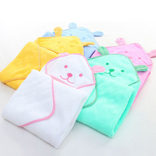 Spring & Summer Infant Baby Bath Towel Newborn Plain Blankets Towels Cartoon Cotton Towel(China)