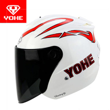 2017 Summer New Knight protection YOHE Half Face motorcycle helmet ABS YH-882B 3/4 Half Cover Motorbike helmets for FREE SIZE(China)