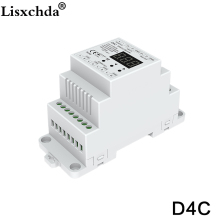 New  4 channel PWM constant current Din rail mounted DMX512 decoder with digital display DC12-48V