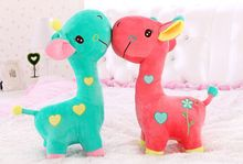 35cm super lovely giraffe stuffed animal doll, giraffe plush toy, girafa de pelucia wedding doll