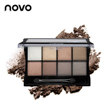 NOVO 8 Colors Eyeshadow Eye Makeup Art mineral Shimmer Eye Shadow Make up Pallete Smoky makeup Peach makeup Cosmetics For Women(China)