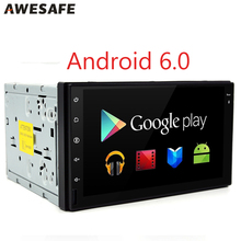 AWESAFE 2 Din Android 6.0 Car Radio with GPS Navigator for vw toyota corolla nissan 1024*600 Quad Core Car multimedia DVD Player